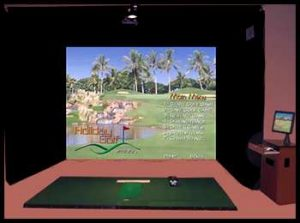 Rent the Sharpshooter Golf Simulator